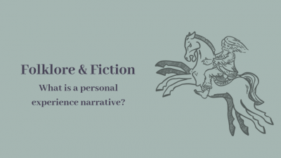 What is a personal experience narrative?