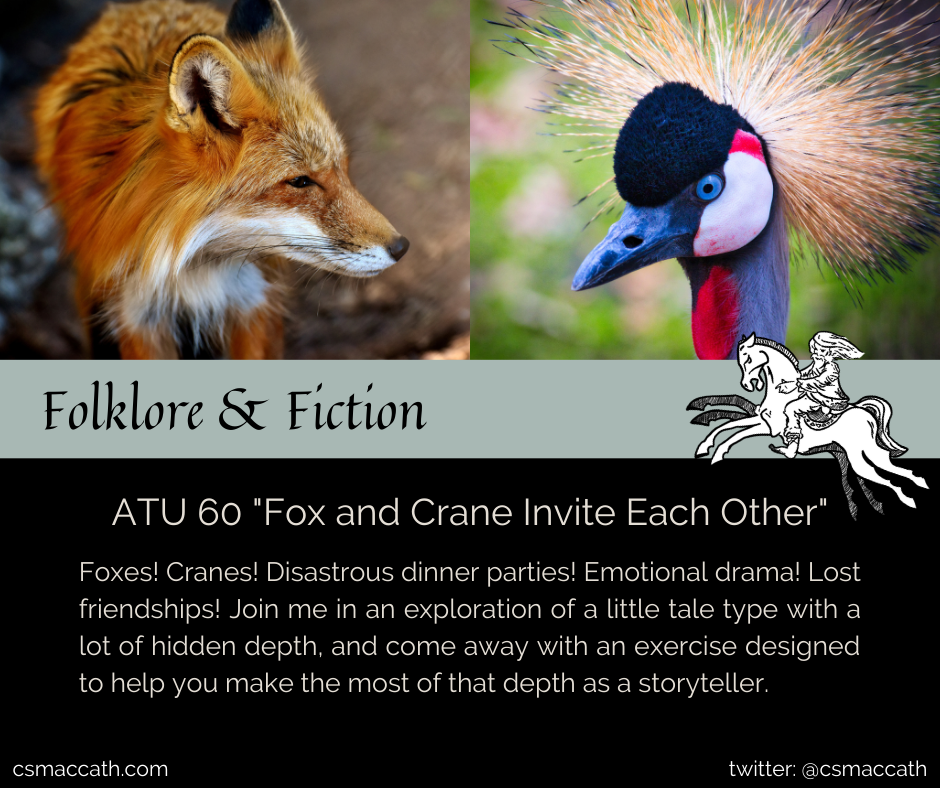 ATU 60 Fox and Crane Invite Each Other