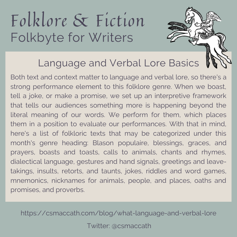 Folkbyte Language and Verbal Lore 1